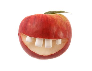 Bio-Zahnersatz-Zahnapfel